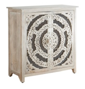 Square Carved Cabinet