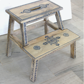 Wooden Painted Step Stool