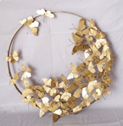 Butterfly Wall Decor Round