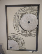 Sun Rays Rectangle Wall Decor