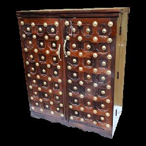 Wooden bar cabinet on Wheels