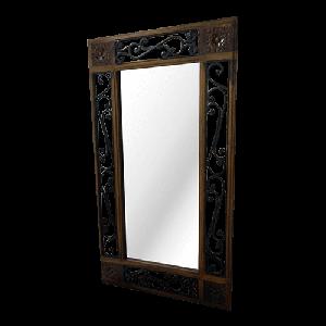 Wooden Iron Jali  Mirror