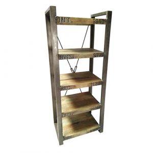 Book Shelf  Wooden Iron