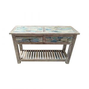 Console Table 2 Drawer Reclaimed & Teak Wood