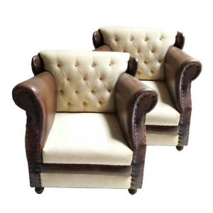 Single Seater Sofa Canvas (Set Of 2)