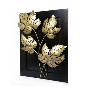 Maple Leaf Wall Decor  Iron Wooden  Frame