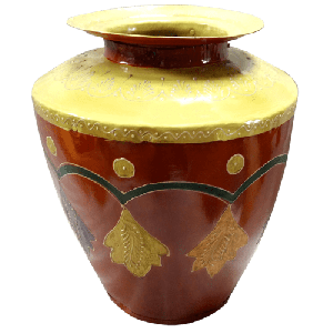 Decorative Iron Small Painted Pot
