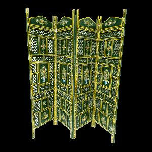 Green wooden screen