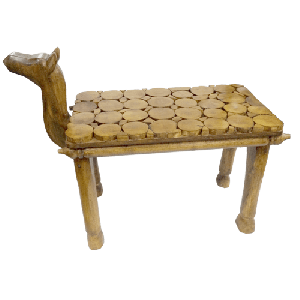 Camel Art Wood Bench