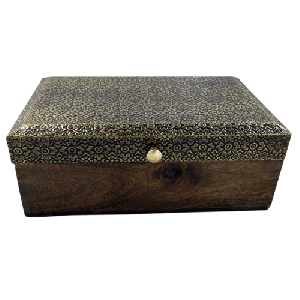 Handmade Wooden Box With Round Knob