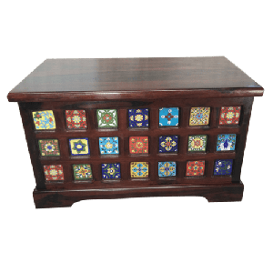 Tile Fitted Wooden Box