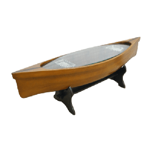 Boat Coffee Table With Glass Top