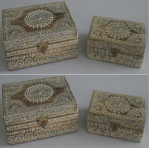 Wooden Painted Box (Set of 2)