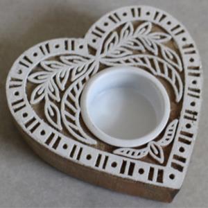 Wooden Carved T-Light Holder