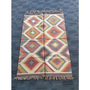 Handmade Jute Durrie (181cm x 123cm)