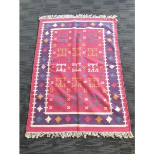 Handmade Wool Durrie (178cm x 130cm)