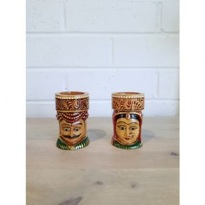 Rajasthan Couple Candle Holder (Set of 2)