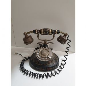 Wooden Brass Telephone