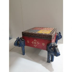 Hand-painted 4 Elephant Box