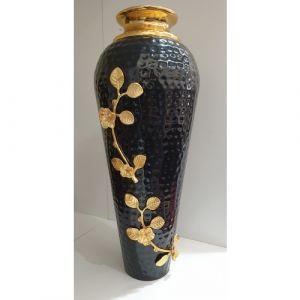 Long Black Flower Pot (Medium)