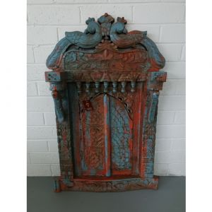 Peacock Antique Jharokha with Doors (Blue)