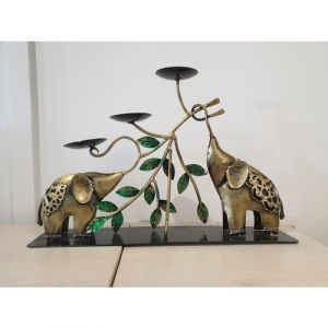 Elephants with 3 Candle Holders