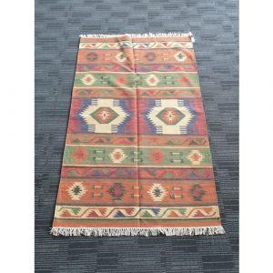 Handmade Wool Durrie (188cm x 119.5cm)