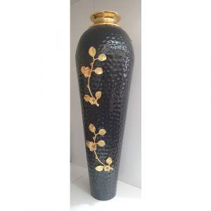 Long Black Flower Pot (Big)