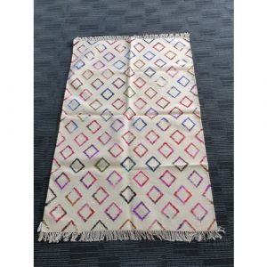 Handmade Wool Durrie (184cm x 123cm)