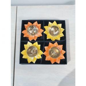 Flower Diyas (Set of 4)