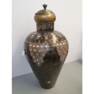 Iron Painted Decor Pot (black)