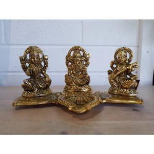 Laxmi, Ganesha & Saraswati Diya