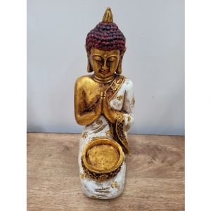 Sitting Buddha Resin (Assorted Colours - Red, Green, Golden)