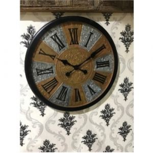 Wooden Metal Fit Clock