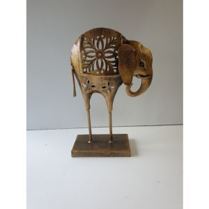 Iron Elephant T Light with Stand