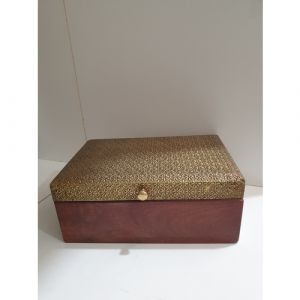 Wooden Box with Metal Fitted Top