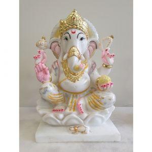 Marble Ganesha with Glitter