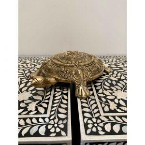 Brass Tortoise with Ganesha