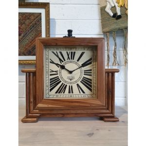 Teak Wood Table Clock