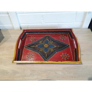 Big Hand Painted Tray (Assorted Colours)