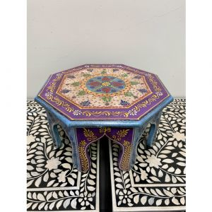 Hand Painted Blue Octagon Bajot (Small)