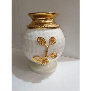 Circular White Vase (Small)