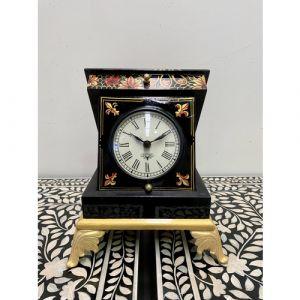 Black Flower Box Clock