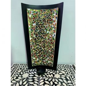 Iron Mosaic Wall Candle Holder