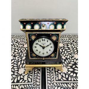Black Hand Painted Box Clock