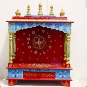 Hand Painted Temple (Red)