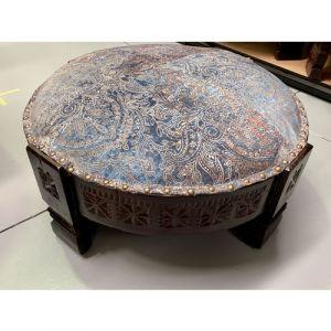 Blue Fabric Chakki Stool (Medium)