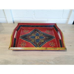 Medium Hand Painted Tray (Assorted colours)