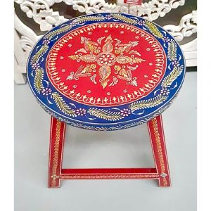 Hand-painted Stool (Red)