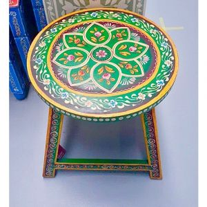 Hand-painted Stool (Green)
